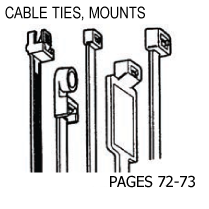 CABLE TIES, MOUNTS